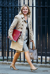 © Licensed to London News Pictures. 11/10/2016. London, UK. Education Secretary JUSTINE GREENING attends a cabinet meeting in Downing Street on Tuesday, 11 October 2016. Photo credit: Tolga Akmen/LNP