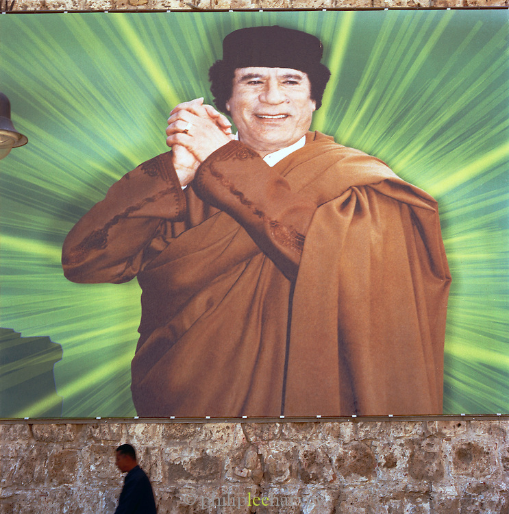 Poster of Colonel Gaddafi, Tripoli, Libya