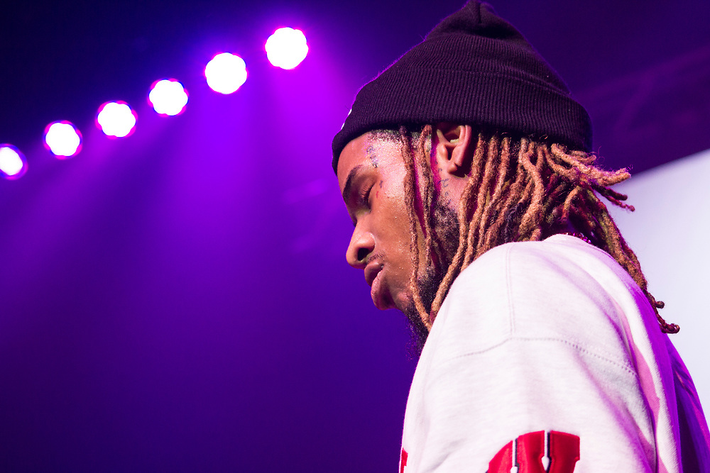 Fetty Wap performing at the Orpheum Theatre in Madison, WI on February 20, 2016.