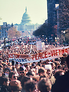 A Vietnam protest march on Pennsylvanis Avenue in November 1969<br /><br />Photo by Dennis Brack bb72
