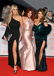 Left to right, Dawn Ward, Lauren Simon and Tanya Bardsley attending the National Television Awards 2018 held at the O2, London. Photo credit should read: Doug Peters/EMPICS Entertainment