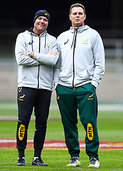 Jacques Nienaber (Defence Coach) of South Africa and Rassie Erasmus (Head Coach) of South Africa - Mandatory by-line: Steve Haag/JMP - 22/06/2018 - RUGBY - DHL Newlands Stadium - Cape Town, South Africa - South Africa Captains Run, South Africa Tour