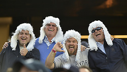October 18, 2017 - Bronx, NY, USA - Fans of New York Yankees right fielder Aaron Judge during Game 5 of the American League Championship Series against the Houston Astros at Yankee Stadium in New York on Wednesday, Oct. 18, 2017. (Credit Image: © Howard Simmons/TNS via ZUMA Wire)