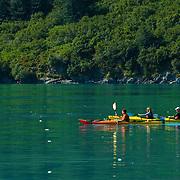 Kayaking in Aialik Bay in Kenai Fjords National Park Alaska