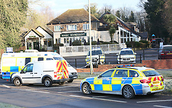 """Andover Hampshire Sunday 6th March 2016<br /> A  Cyclist is in a life threatening condition after a hit and run.<br /> <br /> Police are hunting the driver of a vehicle that failed to stop after hitting the 46-year-old man, who was found lying in the road.<br /> <br /> A passing motorist called the ambulance after discovering the injured man, from Andover, who was taken to hospital with what is described as very serious and life threatening injuries.<br /> <br /> Police are now trying to trace the vehicle involved in the incident, which happened in the vicinity of the Folly Roundabout, Redon Way, Andover at around 12.45am today.<br /> <br /> The accident has meant that there are currently road closures on the roundabout itself, Raydon Way, Charlton Road and Western Avenue in the town.<br /> <br /> It is expected to remain that way for most of the morning.<br /> <br /> Sergeant Adrienne Jerram, from the Serious Collision Investigation Unit said: """"The victim has been left in an extremely critical condition in hospital and his family are with him at his bedside.<br /> <br /> """"We need to trace the vehicle that hit him and the driver as soon as possible. I'm now appealing for help from the public in tracing the vehicle.<br /> <br /> """"If you have any information about what happened or become aware of any vehicle that has suddenly obtained some damage since last night please get in contact with us.""""<br /> <br /> ©UKNIP"""