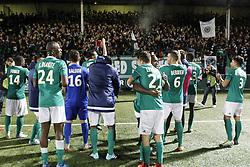 November 17, 2017 - Saint Ouen, France, France - Joie des joueurs du Red Star apres leur victoire contre Rodez (Credit Image: © Panoramic via ZUMA Press)