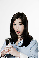 studio shot portrait of a beautiful southeast asian young woman