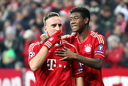 22.11.2011, Allianz Arena, Muenchen, UEFA CL, Gruppe A, GER, FC Bayern Muenchen (GER) vs FC Villarreal (ESP), im Bild Jubel nach dem Tor zum 3-1 durch Franck Ribery (Bayern #7) mit David Alaba (Bayern #27)  //during the football match of UEFA Champions league, group a, between  FC Bayern Muenchen (GER)  vs.  FC Villarreal  (ESP) Gruppe A, on 2011/11/22 at Allianz Arena, Munich, Germany. EXPA Pictures © 2011, PhotoCredit: EXPA/ nph/ Straubmeier..***** ATTENTION - OUT OF GER, CRO *****