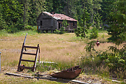 Abandoned mining ghost town of Sandon, Slocan Valley, West Kootenay, British Columbia, Canada