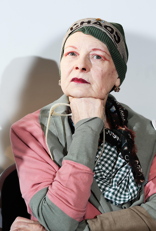 """Vivienne Westwood attends a End Ecoside press conference on HMS President in London on January 15th 2014.<br /> <br /> s multinational Total announces its plans to invest in controversial shale gas (fracking) technology in the UK, fashion designer Vivienne Westwood calls upon EU citizens to vote for """"End Ecocide in Europe,"""" aimed at recognising environmental destruction as a crime. Vivienne Westwood and Prisca Merz, volunteer director of End Ecocide in Europe, explain at a joint press conference on board the HMS President on the river Thames that large-scale environmental damage results from an exaggerated focus on profits rather than nature – the basis of all life on the planet and millions of people. A movie promoting the cause is also presented. Currently, environmental damage often remains unpunished or fines are negligible in comparison to the resulting profits, not a large enough deterrent to dangerous industrial activity. CEOs don't care about money but they care about their freedom. Companies do not want to be involved in anything illegal. That's why the group requests a criminal liability for those responsible for ecocide.<br /> <br /> The European Union gives its citizens the possibility to propose new laws. For this, one million EU citizens must vote for a certain proposal so that the EU is obliged to consider it and adopt a response. A group of volunteers has put """"the law of ecocide"""" on the table and already gathered almost 100,000 votes. The deadline to achieve the target is January 21, so only few days are left, the campaigners will say.<br /> Photo Ki Price"""