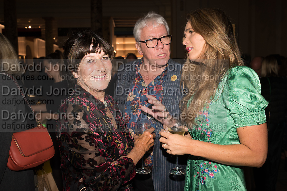 VALERIE GROVE, CELIA WALDEN, Nicholas Coleridge, The Glossy Years, book launch. V & A Museum. London. 30 September 2019