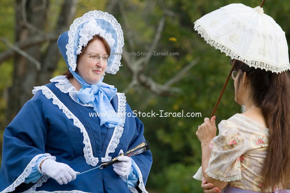 Arkansas, AR, USA, Old Washington State Park, Civil War Weekend, Southern folk 2 ladies