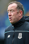 Charlie Adam of Stoke City looking exhausted during a fitness test before k/o.Barclays Premier league match, Chelsea v Stoke city at Stamford Bridge in London on Saturday 5th March 2016.<br /> pic by John Patrick Fletcher, Andrew Orchard sports photography.