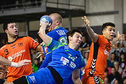 25-10-2019 SLO: Slovenia - Netherlands, Ormoz<br /> Sebastian Skube of Slovenia during friendly handball match between Slovenia and Nederland, on October 25, 2019 in Sportna dvorana Hardek, Ormoz, Slovenia.