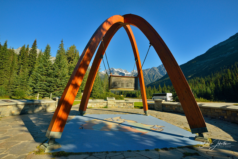 Trans Canada Highway completion memorial at Rogers Pass, Glacier National Park, British Columbia, Canada