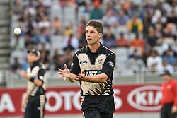 February 17, 2017 - Auckland, New Zealand - Ben Wheeler of New Zealand during international Twenty20 cricket match between South Africa and New Zealand. (Credit Image: © Shirley Kwok/Pacific Press via ZUMA Wire)