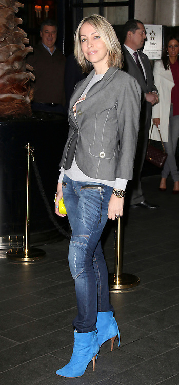 © London News Pictures. Natalie Appleton attends the Exhibition of exclusive photographs of Kate Moss at The Savoy, London UK, 30 January 2014, Photo credit: Richard Goldschmidt/LNP