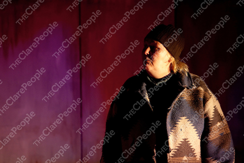 Antje McInerney preforming in the Baglady play  in Fahy Hall Roslevan Ennis Co.Clare<br /> Pictured Credit Brian Gavin Press 22
