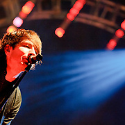 """Washington, D.C., - April 22, 2010:  Adam Young and Owl City play to an adoring crowd of teenagers at DAR Constitution Hall. The band is currently touring behind their 2009 release, Ocean Eyes, which yeilded the #1 hit """"Fireflies."""" (Photo by Kyle Gustafson)"""