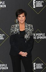 Kris Jenner at the 2019 E! People's Choice Awards held at the Barker Hangar in Santa Monica, USA on November 10, 2019.