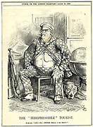 The Irrepressible' Tourist'.  Otto von Bismarck, Chancellor of Germany, as depicted by John Tenniel in 'Punch' London, 29 August 1885, the year in which he turned his attention to acquiring colonial territories for Germany.