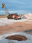 A Blower mining vehicle in Coober Pedy, South Australia, Australia