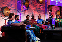 A general view of the press conference during the Cricket World Cup captain's launch event at The Film Shed, London.