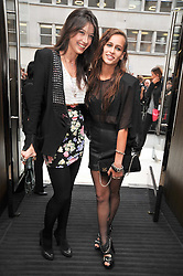 Left to right, DAISY LOWE and ALICE DELLAL at a reception hosted by Vogue and Burberry to celebrate the launch of Fashions Night Out - held at Burberry, 21-23 Bond Street, London on 10th September 2009.
