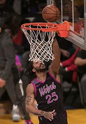 January 24, 2019 - Los Angeles, California, U.S - Derrick Rose #25 of the Minneapolis Timberwolves goes for a layup during their NBA game with the Los Angeles Lakers on Thursday January 24, 2019 at the Staples Center in Los Angeles, California. Lakers lose to Timberwolves, 105-120. (Credit Image: © Prensa Internacional via ZUMA Wire)