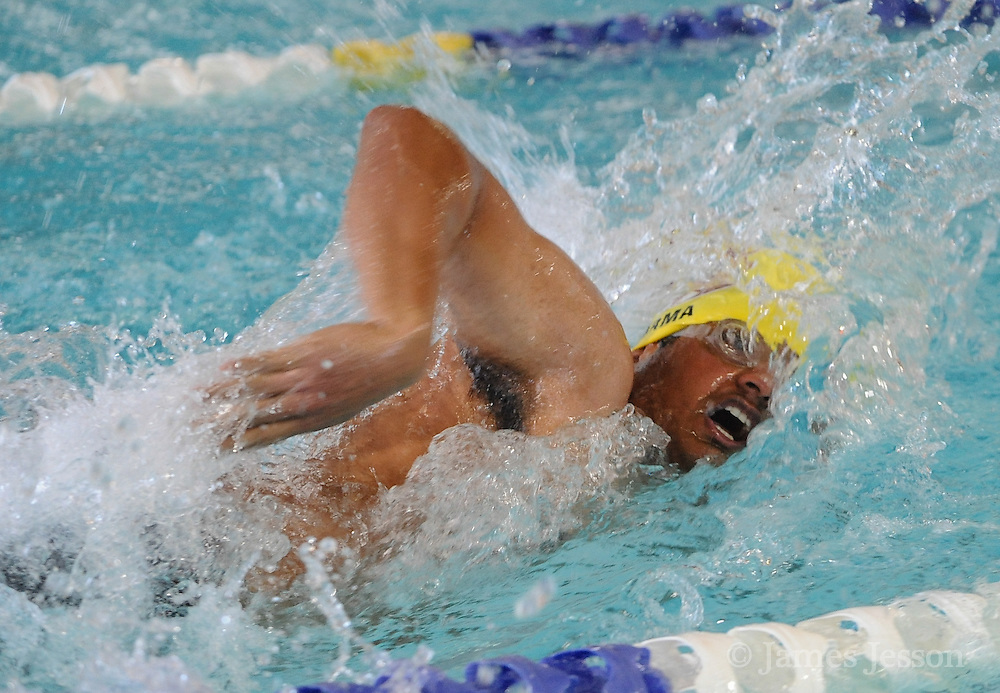 Concord-Carlisle junior Suhas Sarma swims freestyle during the DCL meet at Atkinson Pool in Sudbury, Jan. 31, 2015.   (Wicked Local Photo/James Jesson)
