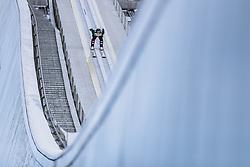 01.01.2021, Olympiaschanze, Garmisch Partenkirchen, GER, FIS Weltcup Skisprung, Vierschanzentournee, Garmisch Partenkirchen, Einzelbewerb, Herren, im Bild Markus Schiffner (AUT) // Markus Schiffner of Austria during the men's individual competition for the Four Hills Tournament of FIS Ski Jumping World Cup at the Olympiaschanze in Garmisch Partenkirchen, Germany on 2021/01/01. EXPA Pictures © 2020, PhotoCredit: EXPA/ JFK