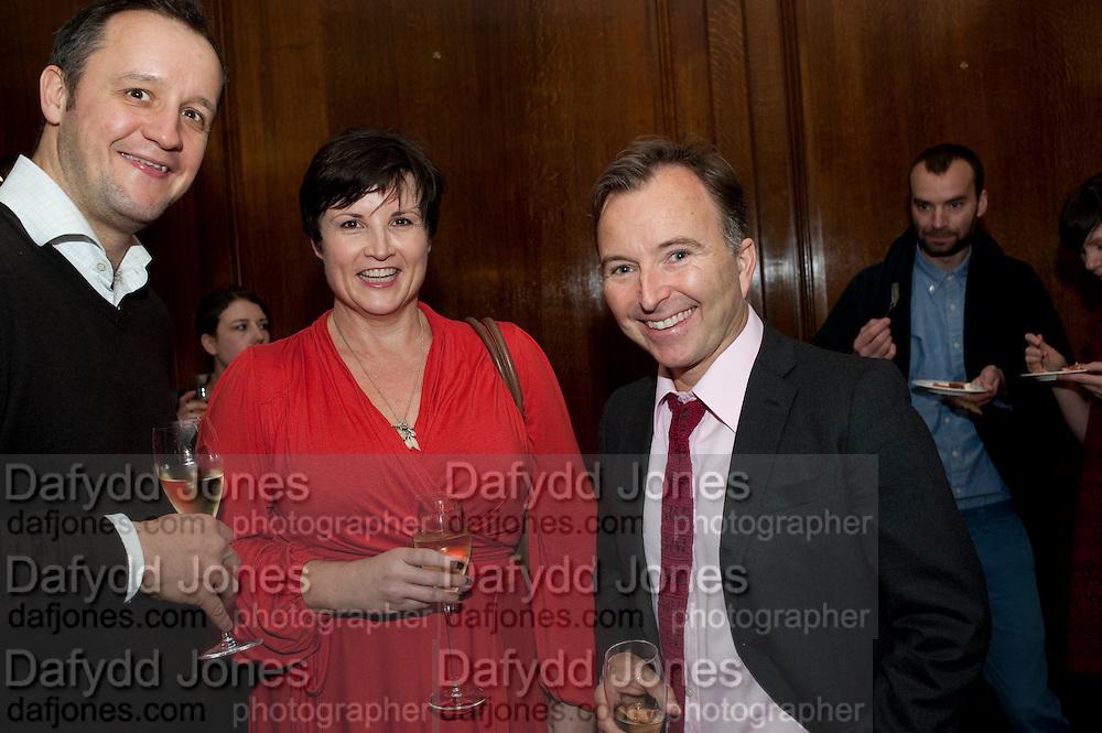 WILLIAM KNIGHT; JENNI CARVINS; TONY CHAMBERS, Wallpaper Design Awards 2012. 10 Trinity Square<br /> London,  11 January 2011.
