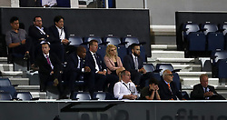 Queens Park Rangers director of football Les Ferdinand (middle row, second left) watches on during the Sky Bet Championship match at Loftus Road, London.