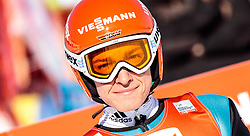 29.01.2017, Casino Arena, Seefeld, AUT, FIS Weltcup Nordische Kombination, Seefeld Triple, Skisprung, im Bild Manuel Faisst (GER) // Manuel Faisst of Germany reacts after his Competition Jump of Skijumping of the FIS Nordic Combined World Cup Seefeld Triple at the Casino Arena in Seefeld, Austria on 2017/01/29. EXPA Pictures © 2017, PhotoCredit: EXPA/ JFK