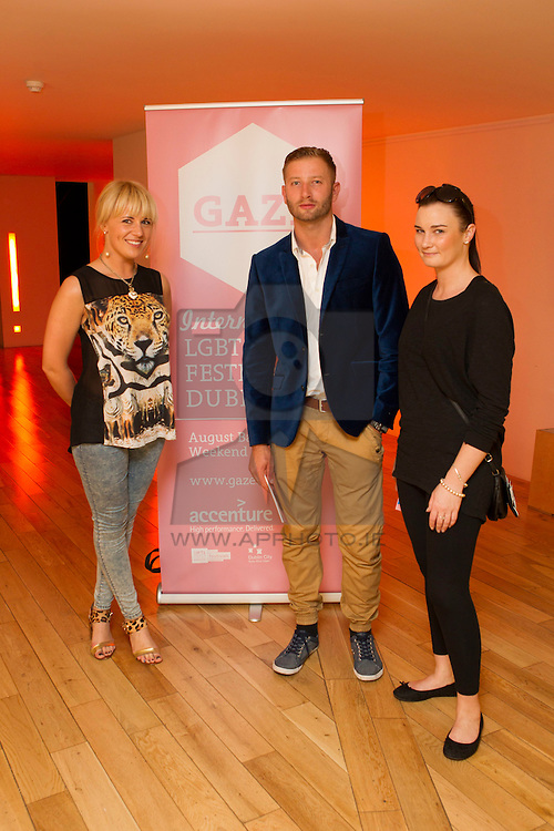 Social: Repro Free: Viktoria Maikova, Michael Warwas and Martia Nihill pictured at the Light House Cinema in Smithfield for the programme launch of the GAZE International LGBT Film Festival Dublin, sponsored by Accenture. The festival runs from Thursday, 1st August until Monday, 5th August at the Light House Cinema. For ticket information and screening times, visit www.gaze.ie