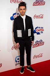 © Licensed to London News Pictures. 03/12/2016. NATHAN SYKES attends Capital's Jingle Bell Ball with Coca-Cola at London's O2 Arena London, UK. Photo credit: Ray Tang/LNP