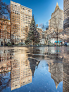The New York Life Building stands in Madison Square Park, Manhattan, New York City.