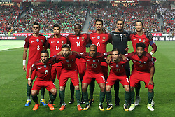 October 10, 2017 - Lisbon, Portugal - Portugal's line up team before the 2018 FIFA World Cup qualifying football match between Portugal and Switzerland at the Luz stadium in Lisbon, Portugal on October 10, 2017. Photo: Pedro Fiuza  (Credit Image: © Pedro Fiuza/NurPhoto via ZUMA Press)