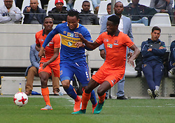 Cape Town City defender Dove Edmilson in action against Polokwane City in an MTN8 quarter-final match at the Cape Town Stadium on August 12, 2017 in Cape Town, South Africa.