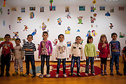 A group of children - Roma and Non Roma - performing at the local kindergarten in Marginenii de Jos.