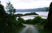 Road leading to the fisheries marine research laboratory, Ardtoe, Acharacle, Scotland photograph dated 1971
