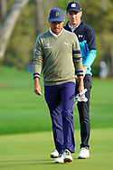 Rickie Fowler (USA) and Jordan Spieth (USA) during Round 1 of the Players Championship, TPC Sawgrass, Ponte Vedra Beach, Florida, USA. 12/03/2020<br /> Picture: Golffile | Fran Caffrey<br /> <br /> <br /> All photo usage must carry mandatory copyright credit (© Golffile | Fran Caffrey)