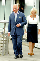 Prince Charles, Camilla Duchess of Cornwall visit the newly refurbished 'Maiden' yacht London, UK
