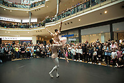 Members of the Birmingham Royal Ballet perform a section from The Nutcracker in the Bullring to a packed audience during the Birmingham Weekender Arts And Culture Festival on 23rd September 2017 in Birmingham, United Kingdom.