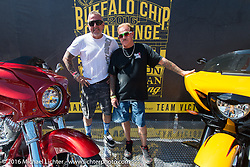 Buffalo Chip Challenge bikes are auctioned off at the Franklin Hotel in Deadwood as part of the Legends Ride during the annual Sturgis Black Hills Motorcycle Rally.  SD, USA.  August 8, 2016.  Photography ©2016 Michael Lichter.