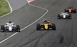 May 13, 2018 - Barcelona, Spain - Carlos Sainz, team Renault, and Marcus Ericsson ,team Alfa Romeo Sauber, during the GP Spain F1, on 13th May 2018 in Barcelona, Spain. (Credit Image: © Joan Valls/NurPhoto via ZUMA Press)