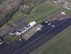 Image ©Licensed to i-Images Picture Agency. Aerial views. United Kingdom.<br /> Biggin Hill airport. Picture by i-Images