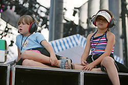 Kids Watching Concert From Stage Left