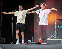 Max and Harvey  at the Big Feastival 2021 on Alex James' Cotswolds farm, Kingham oxfordshire