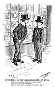 """Overheard in the neighbourhood of Eton. Small boy (to new boy). """"Here, you! Sock us an ice."""" New boy. """"Can't; haven't any money."""" Small boy. """"Oh, that's all right. I'll lend you some."""""""